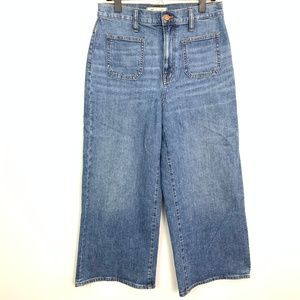 Madewell | Wide Leg Cropped Denim Jeans Sz 28